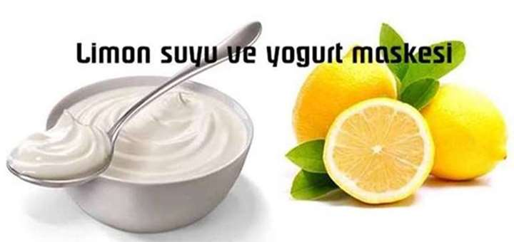 limon suyu ve yogurt maskesi