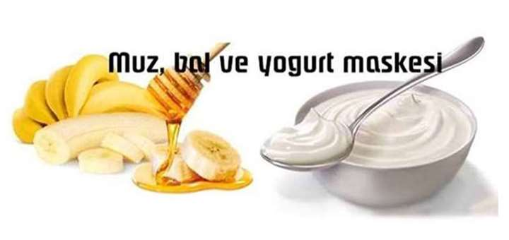 muz bal ve yogurt maskesi