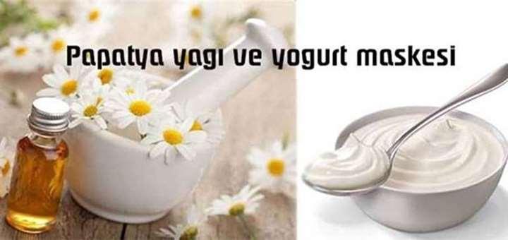 papatya yagi ve yogurt maskesi