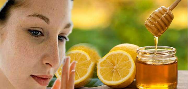 Ballı limon maskesi (Güneş lekeleri için)