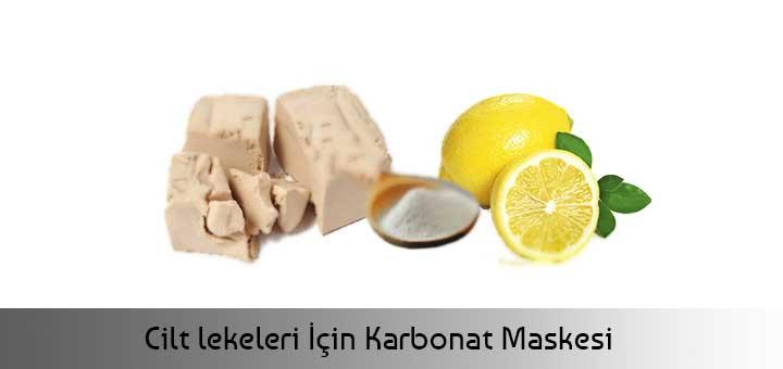 Cilt lekeleri İçin Karbonat Maskesi