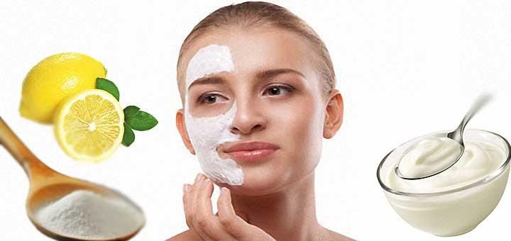 yoğurt karbonat limon maskesi ile güneş lekelerine veda edin.
