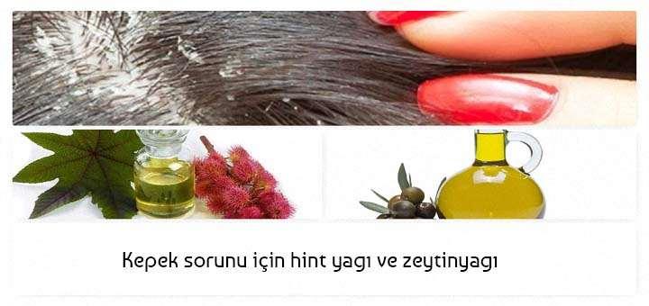 kepek sorunu hint yağı ve zeytinyağı