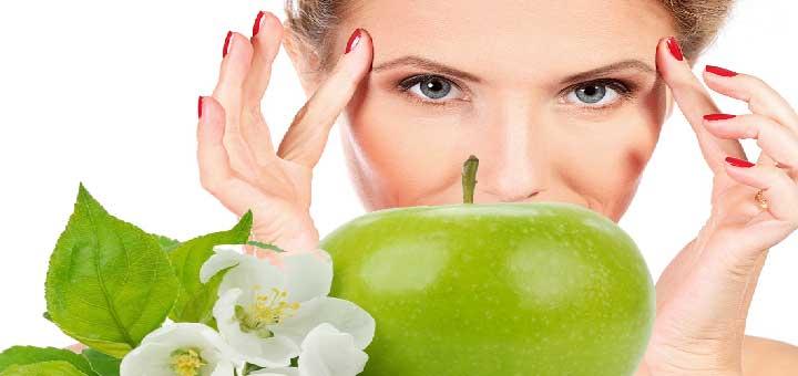 Kırışıklık için elma maskesi