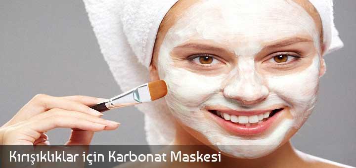 Kırışıklıklar için Karbonat Maskesi