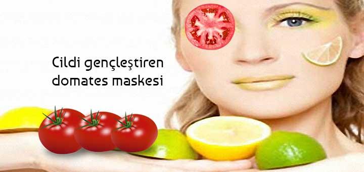 Cildi gençleştiren domates maskesi