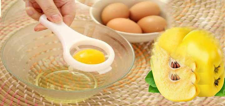 Ayva çekirdeği ve yumurta akı maskesi