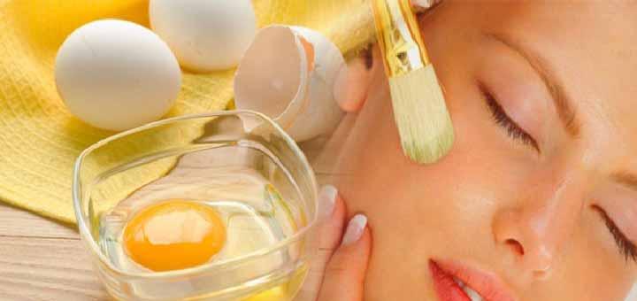 Beyazlatıcı etkili yumurta akı maskesi