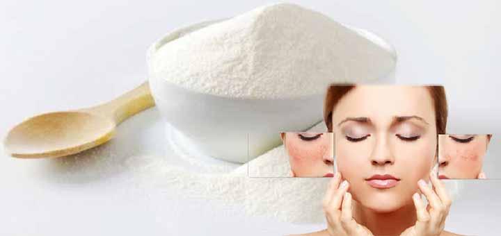 Cilt lekeleri için süt tozu maskesi