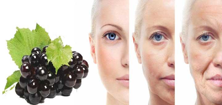 Erken yaşlanma belirtilerini azaltan siyah üzüm maskesi