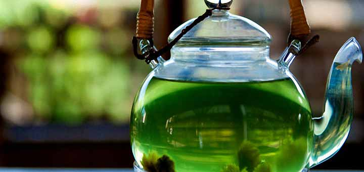 Peeling etkili yeşil çay maskesi