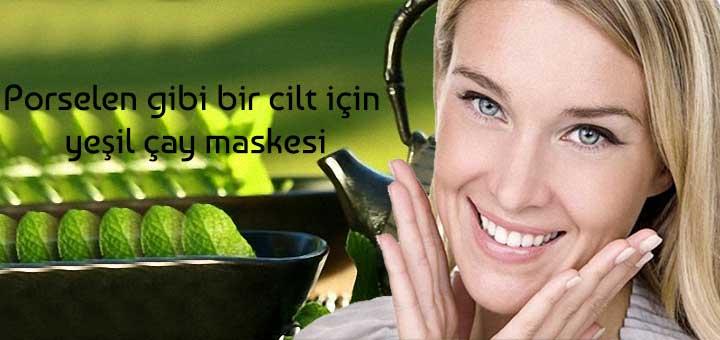 Porselen gibi bir cilt için yeşil çay maskesi