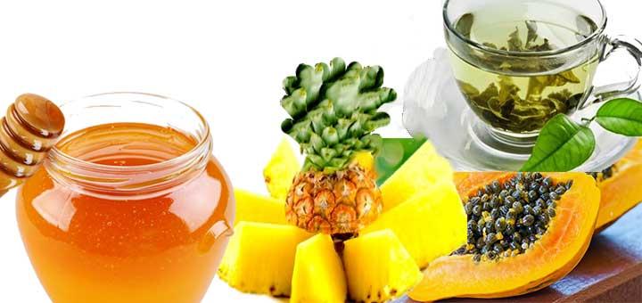 Yeşil Çay, Papaya ve Ballı Ananas Maskesi