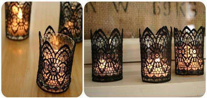 Bardaktan dekoratif mumluk yapımı