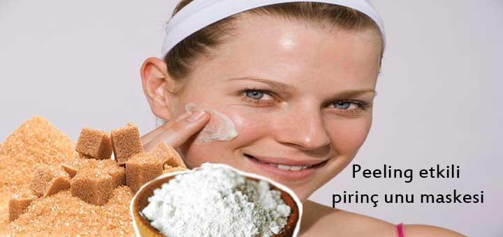 Peeling etkili pirinç unu maskesi